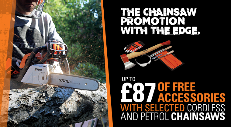 The Chainsaw Promotion with Free Accessories
